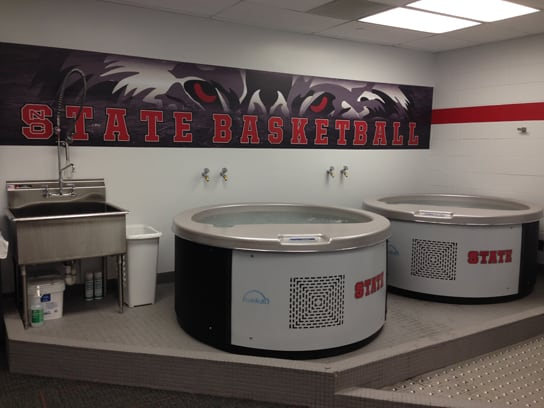 The Men's Basketball program at NC State uses the Polar Plunge pools